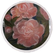 The Bouquet Of Peonies Round Beach Towel