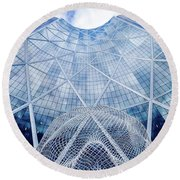 The Bow Building Round Beach Towel