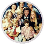 The Brady Bunch Round Beach Towel