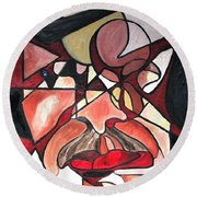 The Brain Surgeon  Round Beach Towel