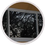 The Branch Window Round Beach Towel