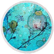 The Branches And The Moon Round Beach Towel