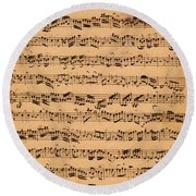 The Brandenburger Concertos Round Beach Towel