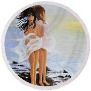 The Breeze - La Brezza Round Beach Towel