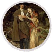 The Bride Of Lammermoor Round Beach Towel