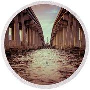 The Bridge II Round Beach Towel