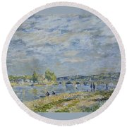The Bridge Near Sevres Round Beach Towel