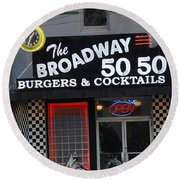The Broadway 50 50 Round Beach Towel