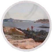 The Bronx Rocky Shore Round Beach Towel