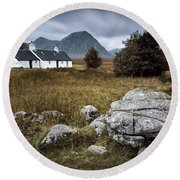 Blackrock And The Buachaille Round Beach Towel