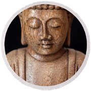 The Buddha Round Beach Towel