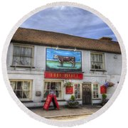 The Bull Pub Theydon Bois Panorama Round Beach Towel