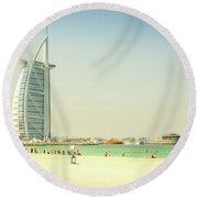 The Burj Al Arab Round Beach Towel