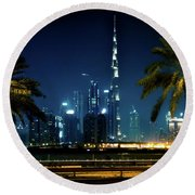 The Burj Khalifa  Round Beach Towel