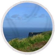 The Burren Pathway Along The Cliff's Of Moher Round Beach Towel