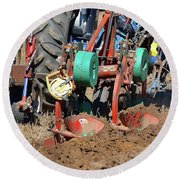 The Business End Of A Tractor Two  Round Beach Towel
