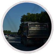 The Busy Highway Round Beach Towel