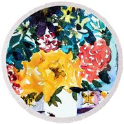 The Butterfly Bouquet Round Beach Towel
