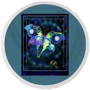 The Butterfly Mission Round Beach Towel