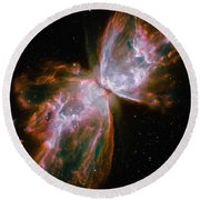 The Butterfly Nebula Round Beach Towel