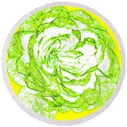The Cabbage Rose Round Beach Towel