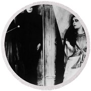 The Cabinet Of Dr.caligari Round Beach Towel