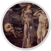 The Calling Of Perseus 1898 Round Beach Towel
