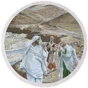 The Calling Of St. Andrew And St. John Round Beach Towel by Tissot
