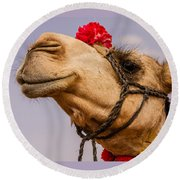 The Camel Beauty Round Beach Towel