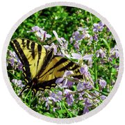 The Canadian Tiger Swallowtail Round Beach Towel