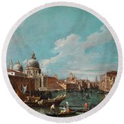 The Cannament Of The Great Canal Round Beach Towel