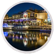 The Cannery Restaurant Round Beach Towel