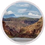The Canyon Round Beach Towel
