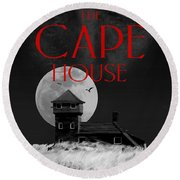 The Cape House Book Cover Round Beach Towel