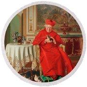 The Cardinal's Favourite Round Beach Towel