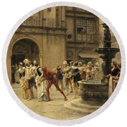 The Carnival Procession Round Beach Towel