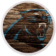 The Carolina Panthers 4b Round Beach Towel