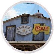 The Carpenter Farm Supply Round Beach Towel