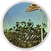 The Casements Flag Flying Round Beach Towel