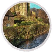The Castle At Brecon Round Beach Towel