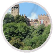 The Castle Of Camino Round Beach Towel