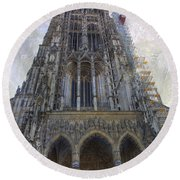The Cathedral At Ulm Round Beach Towel