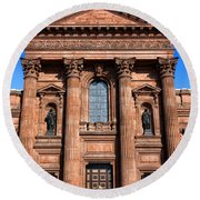 The Cathedral Basilica Of Saints Peter And Paul Round Beach Towel