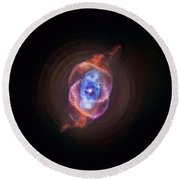 The Cat's Eye Nebula Round Beach Towel