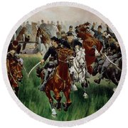 The Cavalry Round Beach Towel
