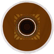 The Ceiling Round Beach Towel