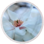 The Center Of Beauty Round Beach Towel