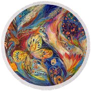 The Chagall Dreams Round Beach Towel