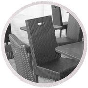 The Chairs Round Beach Towel
