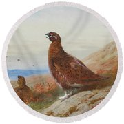 The Challenge By Thorburn Round Beach Towel